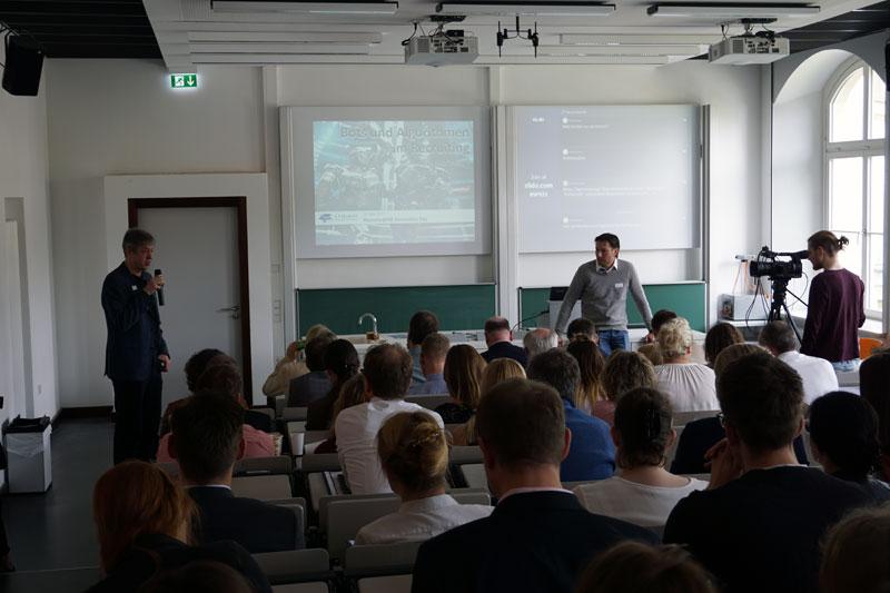 Prof. Wald und Joachim Dierks